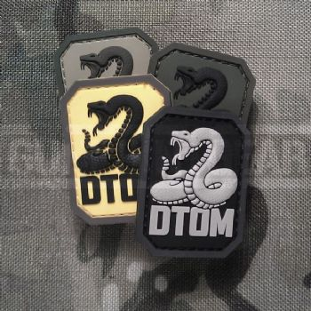 Mil-Spec Monkey Velcro Morale Patch DTOM  Don't Tread On Me Small